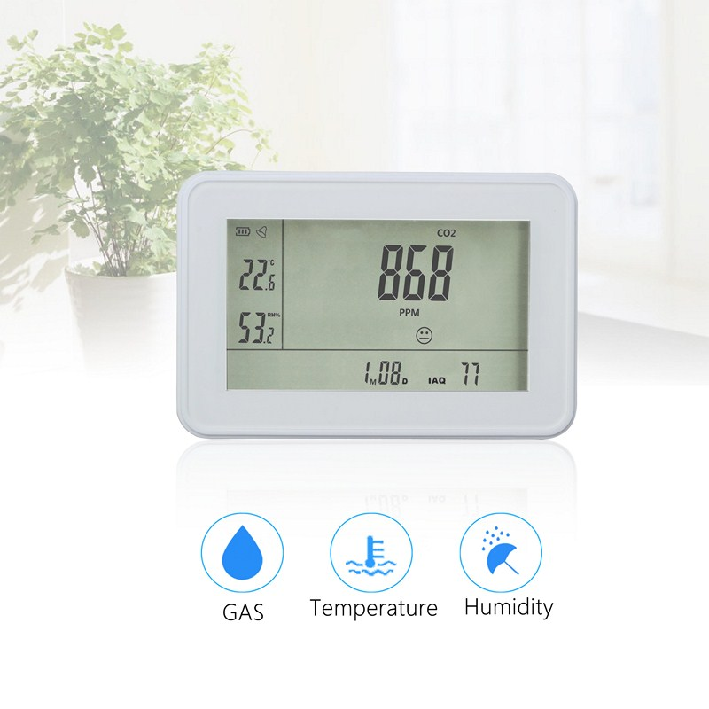 CO2 Detector Carbon Dioxide Detector Temperature Humidity Digital Gas Leak Detector CO2 Analyzer Monitor with Alarm Gas Detector цена