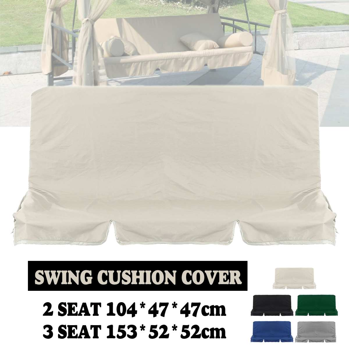 Swing-Cushion Dust-Covers Spare-Fabric-Cover Waterproof Canopy Chair-Replacement 5-Colors