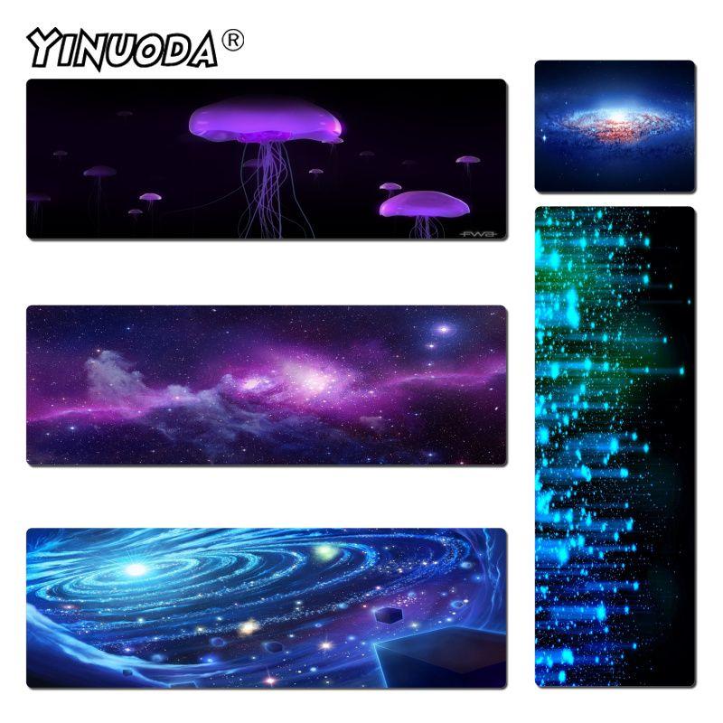 Yinuoda Нескользящие PC Star Night резиновая Мышь прочный рабочего стола Мышь pad Размеры для 18x22 см 20x25 см 25x29 см 30x60 см 40x90 см