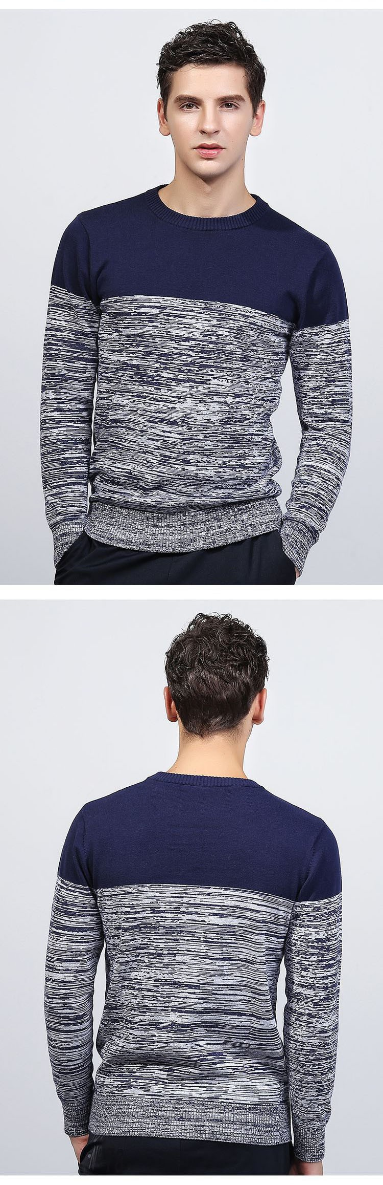 Aolamegs Men Sweater Fashion Hit Color Knitted Pullovers 2017 Spring New Men\'s Classic Casual Slim Fit Knitting Sweter Hombre (8)