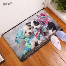 Homing New Arrive Door Mats for Entrance Door Character 3D dogs animal Pattern Carpets Living Room Dust Proof Mats Home Decor(China)