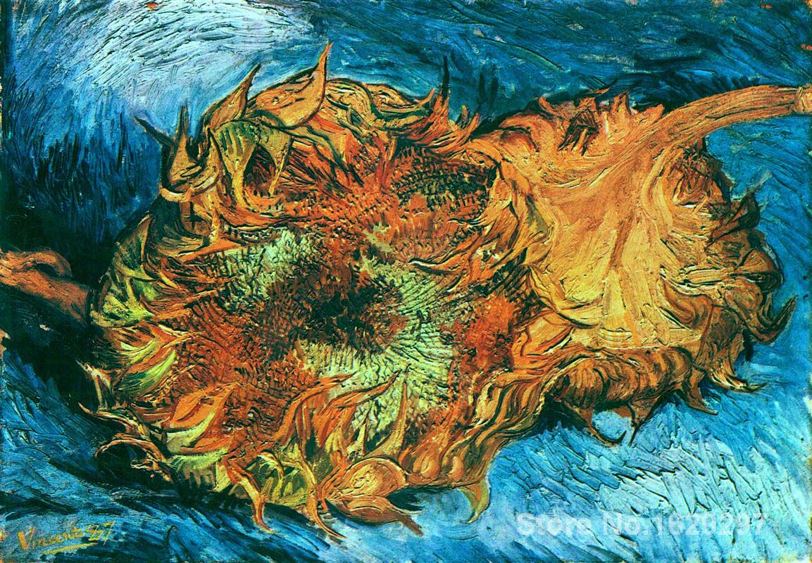 Still Life With Two Sunflowers Vincent Van Gogh Painting For Bedroom. Vincent Van Gogh Bedroom Painting  Vincent Van Gogh The Bedroom