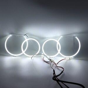 Image 5 - for BMW 3 Series E90 2005 2008 Ultra bright SMD white LED angel eyes 2600LM 12V halo ring kit daytime running light