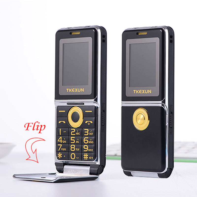 Image 5 - MAFAM Unlocked Flip Metal Mobile Phone One Key Dual Torch FM Bluetooth SOS Speed Dial Whatsapp Old Man Senior Cell Phone P094-in Cellphones from Cellphones & Telecommunications
