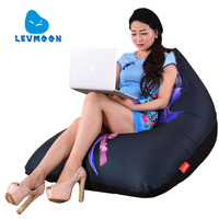 LEVMOON Beanbag Sofa Chair Fairy Beauty Seat Zac Comfort Bean Bag Bed Cover Without Filler Cotton