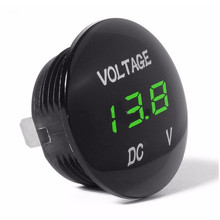 1 pcs DC12V Digital Voltage Meter LED Display Voltmeter for Car Motorcycle