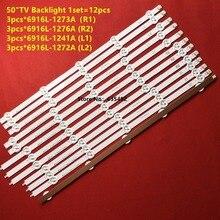 12 sztuk podświetlenie LED dla LG 50LA620S 50LN5400 50LN5600 50LA6208 50LN575S 50LA6230 50LN577S 50LA620S 6916L 1272A 1241A 1273A 1276A