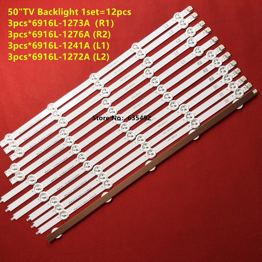 12PCS Retroilluminazione A LED Per Il LG 50LA620S 50LN5400 50LN5600 50LA6208 50LN575S 50LA6230 50LN577S 50LA620S 6916L-1272A 1241A 1273A 1276A