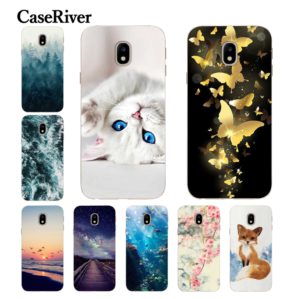 caseriver for coque samsung j3 2017 case cover j330f soft tpu printed back protective for funda