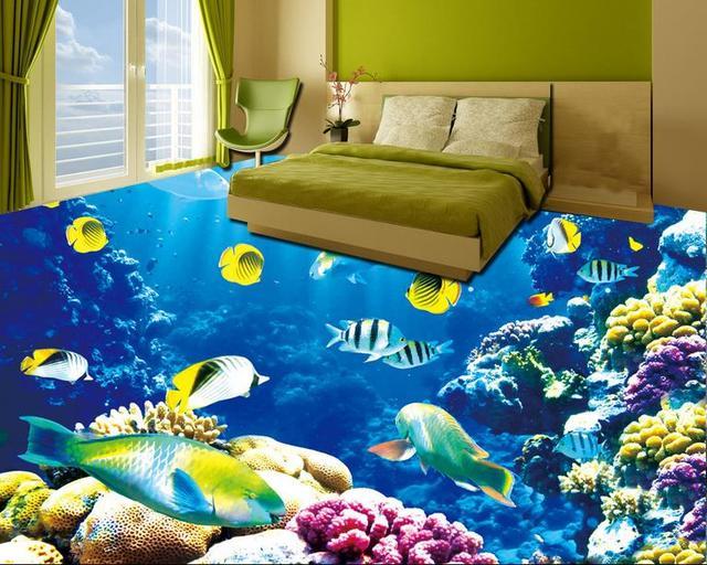 3d Fußboden Schlafzimmer ~ D bodenbelag unterwasser wandmalereien dolphin d boden malerei