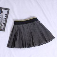 Hot Sale 2017 Autumn And Winter Baby Girls Cotton Preppy Style Skirt Pleated Mini Skirt Child