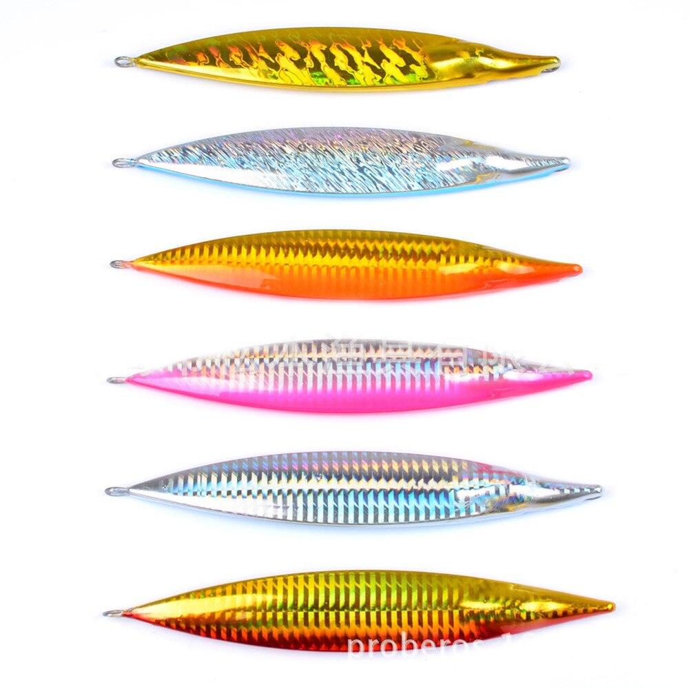 5PCS Fishing Deep Sea Slow Jig Ocean Boat Rock Beach Metal Jigging Jigbait Spoon Lure baits