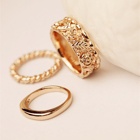 Tip Top Jewellery: 3Pcs/Set Fashion Top Of Finger Over The Midi Tip Finger Above The Knuckle Open Ring 01VW-in
