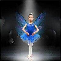 الفتيات الاطفال طفل dancewear يوتار باليه توتو سكيت زي الأطفال الرقص اللباس 3-7 y الشحن المجاني
