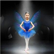 Girls Kids Toddler Dancewear Leotard Ballet Tutu Skate Costume Children Dance Dress 3-7 Y Free Shipping