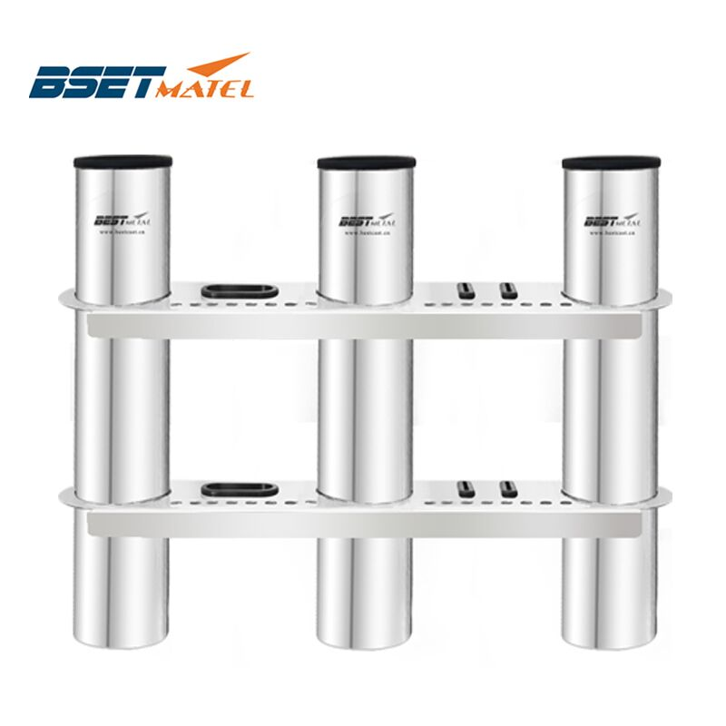 BSET MATEL 3 Tubes Link stainless steel 316 fishing rod holder fishing rod rack socket for marine fishing box kayak boat yacht 2017 time limited amarras fueraborda outboard motor boat stainless steel rod holder 4 link rack marine fishing pod accessories