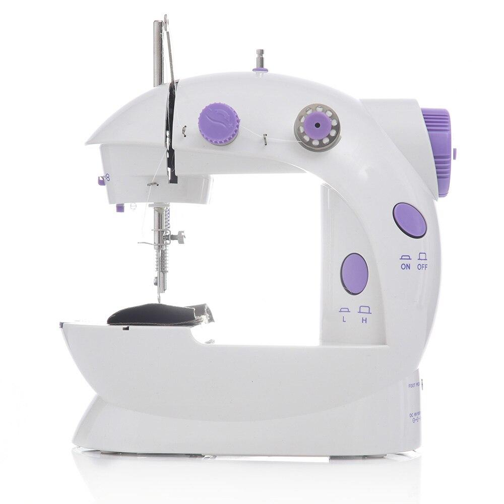 Mini Sewing Machine Sew 2 Speed Portable Desktop Foot Pedal Handheld Household H