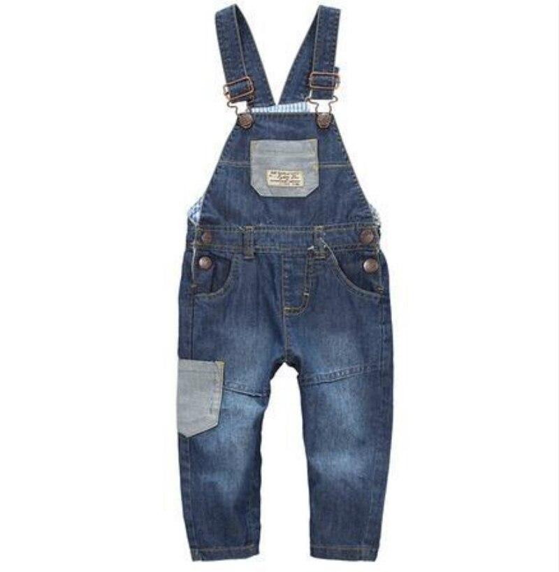 Baby boys Overalls Kids jumpsuit denim Baby Blue Jeans Jumpsuit Romper boys girls jeans kids girls overalls Freeshipping denim
