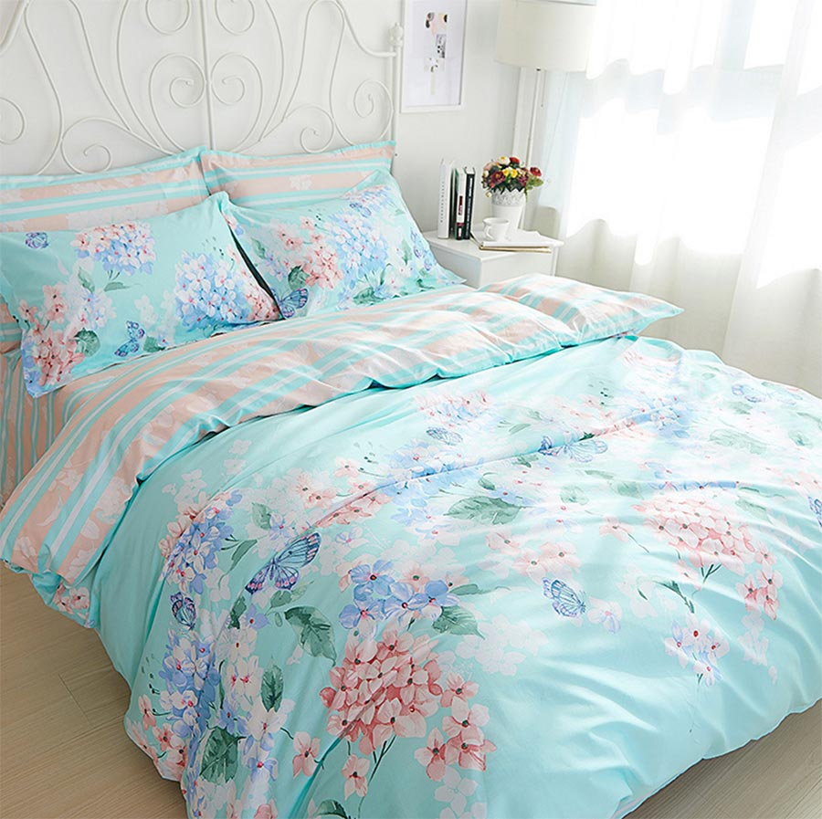 online get cheap bedding set japanese flower aliexpresscom  - pastoral flower bedding sets teen adult girlcotton full queen king modernhome textile flat