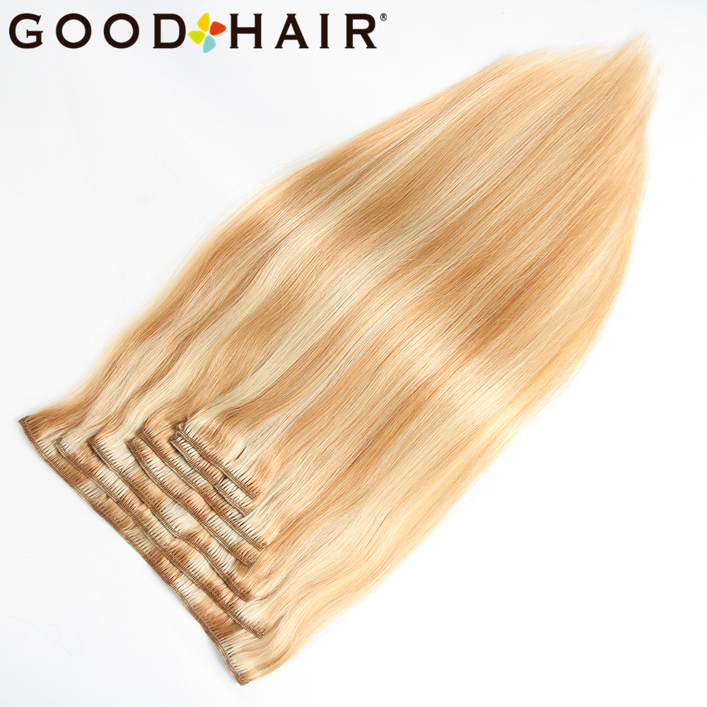 GOOD HAIR Straight Clip In Human Hair Extensions Қара - Адам шашы (ақ) - фото 2