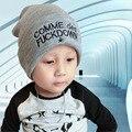 Повседневная Ручной Трикотажные Вязания Шляпы С Печатью Письмо Для Детей Корейский Стиль Осень Зима Теплая Открытый Капа Шапочки