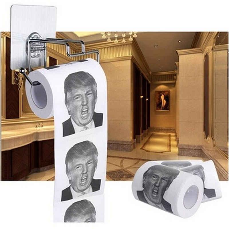 Дональд Трамп Юмор туалетная бумага рулон Новинка Забавный кляп подарок дампа с Трампом