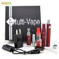 Multi kits Vape kits 4 em 1 erva Seca vaperizer caneta vape presente starter kits cigarro eletrônico para cera de erva seca e cigarro kit