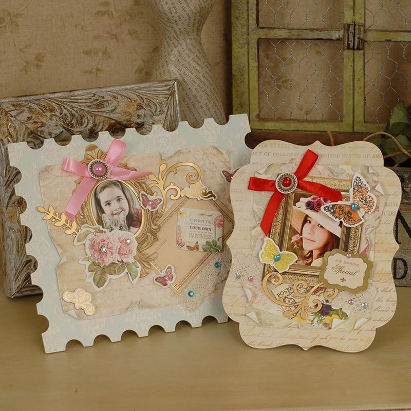 Retro Papier DIY Bilderrahmen Vintage Bilderrahmen Kit Geschenkset ...