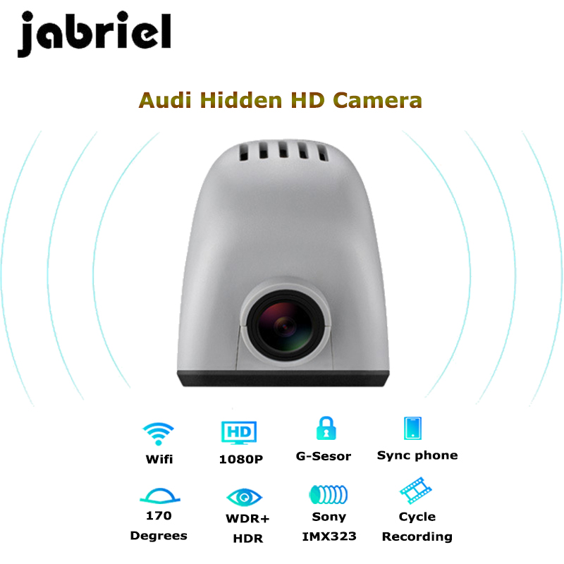 Jabriel auto IOS/Android wifi 1080P hidden car dvr dash cam video recorder car camera for audi a3 a4 a5 a6 a7 a8 q5 q7 2006-2018 image