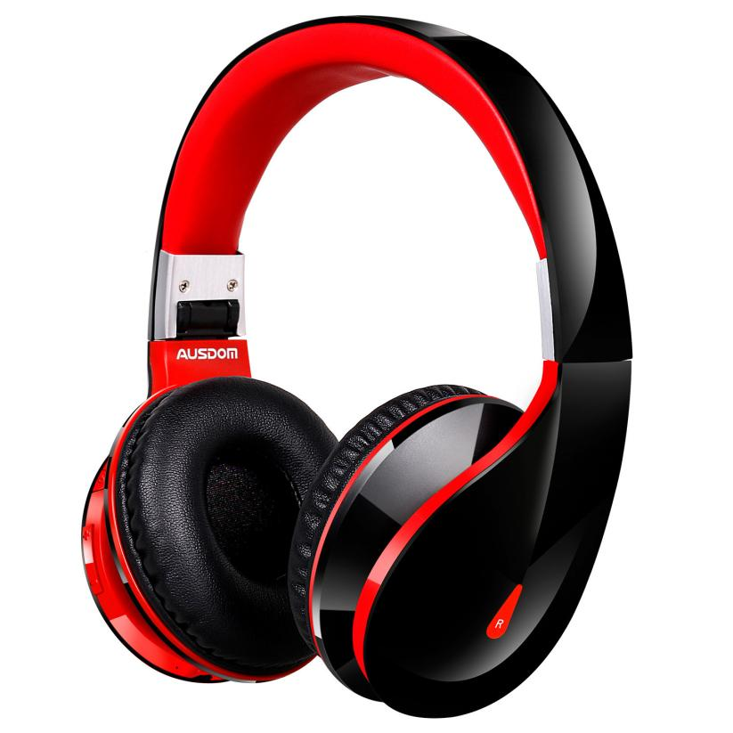 Fashion Wireless Bluetooth Headband Headphones Red Foldable Stereo Headset Music Lovers Exclusive Device for iPhone Nov22 2016 new fashion brand sport headphones bluetooth wireless foldable headband headset cool led light headphone free shipping