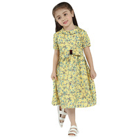 Summer Baby Kids Dresses Children Girls Short Sleeve Floral Princess Dress Spring Summer Dress Baby Girl