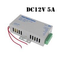 AC 110-220 v de Entrada DC 12 v 5A Saída fonte de Alimentação para Porta de Controle de Acesso RFID de Acesso Por Impressão Digital máquina de controle do Dispositivo