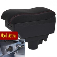 For Opel Astra Armrest Box Ford Fiesta Universal Car Central Armrest Storage Box cup holder ashtray modification accessories