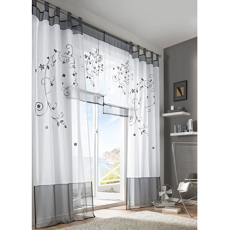 Kitchen Entrance Curtain: Simple Tulle Tube Curtains For Kitchen Japanese Door