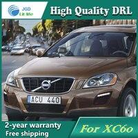 Free Shipping 12V 6000k LED DRL Daytime Running Light Case For Volvo XC60 Fog Lamp Frame