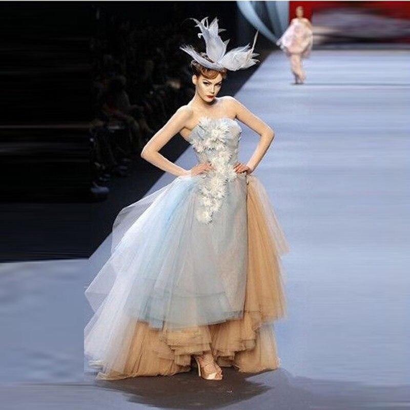 Fashion Evening Dress Ice Blue Off Shoulder Vestidos De Festa Brand Design Unique Prom Dress Chic