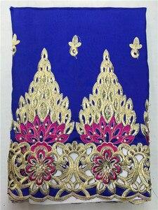 Image 5 - Lj16kоптовая продажа, Высококачественная африканская ткань George, желтая африканская кружевная ткань George для нигерийской свадьбы