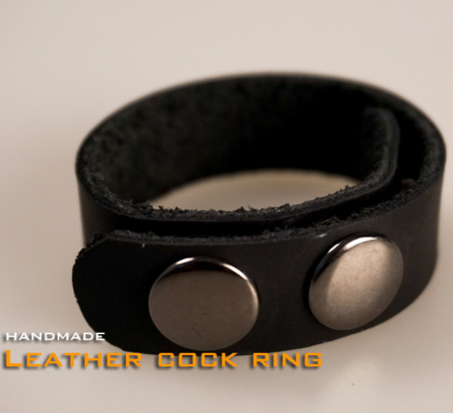 (RD1083)Quality Handmade Leather Cock Ring Fetish Wear