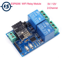 5V/12V WIFI Relay Module ESP8266 IOT APP Remote Controller 2-Channel For Smart Home mobile Phone Automation Board(China)