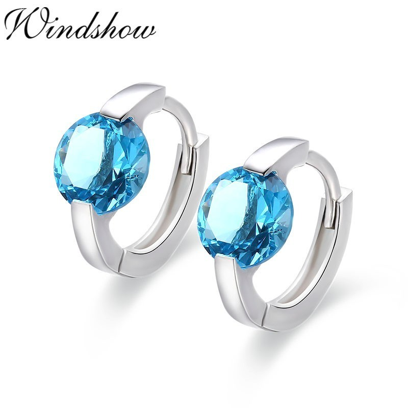 Cute 925 Sterling Silver Round AAA CZ Circles Small Loop Huggies Hoop Earrings For Women Jewelry Kids Baby Children Girls Aros colorful cubic zirconia hoop earring fashion jewelry for women multi color stone aaa cz circle hoop earrings for party jewelry
