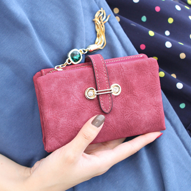 2017 Leather  Wallet Retro Style