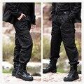 Combate táctico militar del ejército de carga negro pantalones de chándal de los hombres activos prendas de vestir masculinas overoles pantalones casuales pantalones para hombre