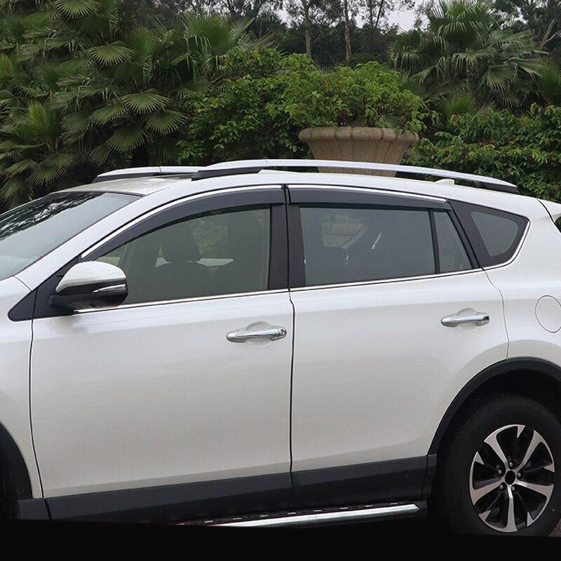 Pour Toyota RAV4 XA40 2013-2018 voiture style extérieur accessoires fenêtre visière Vent soleil pluie garde revêtement d'habillage 4 pièces