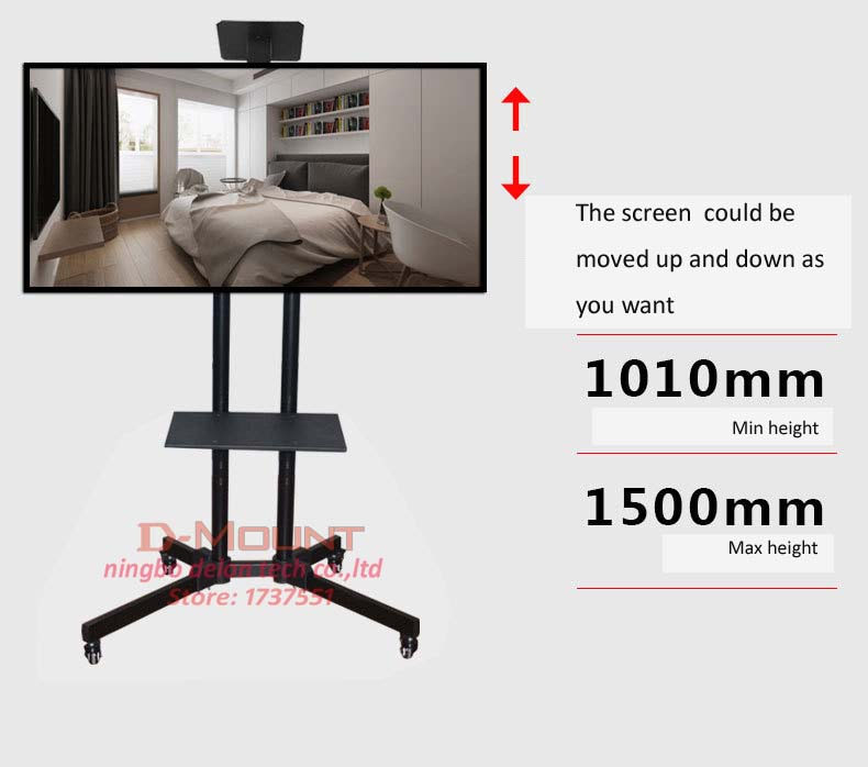D mount DL SP1 economical tilt TV Mobile Cart Free Lifting 30 65 LED LCD Plasma