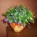 1 Шт. Искусственные Растения Зеленая Трава Пластиковые Поддельные Цветы 28 см Длина Моделирование Цветок Для Дома Свадебное Украшение Партии