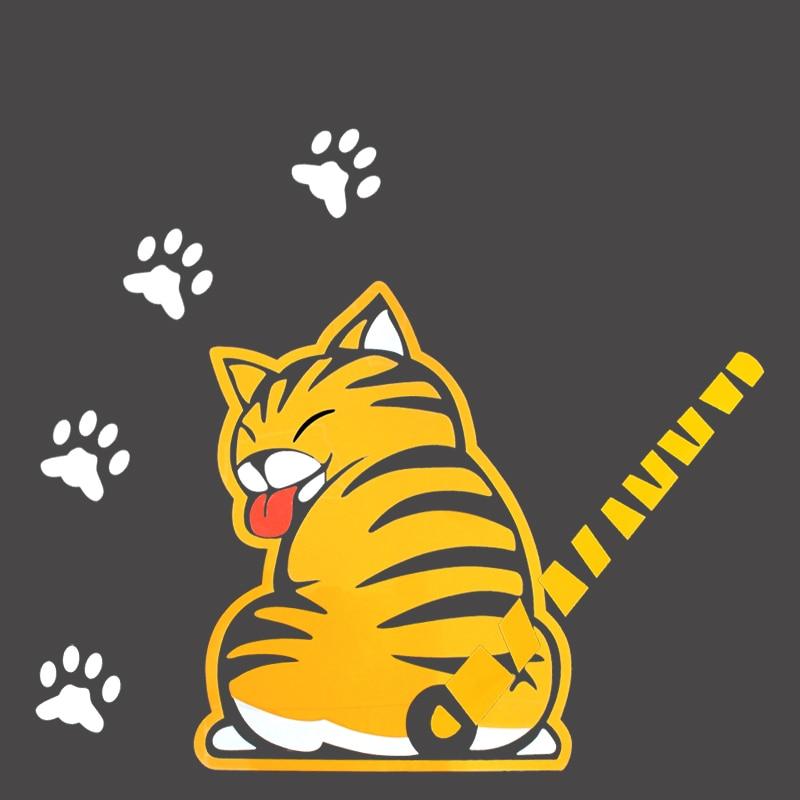 Купить с кэшбэком BEMOST Auto Accessories Cartoon Animal Funny Cat Moving Tail Stickers Reflective Car Window Wiper Decals Stickers Car Styling