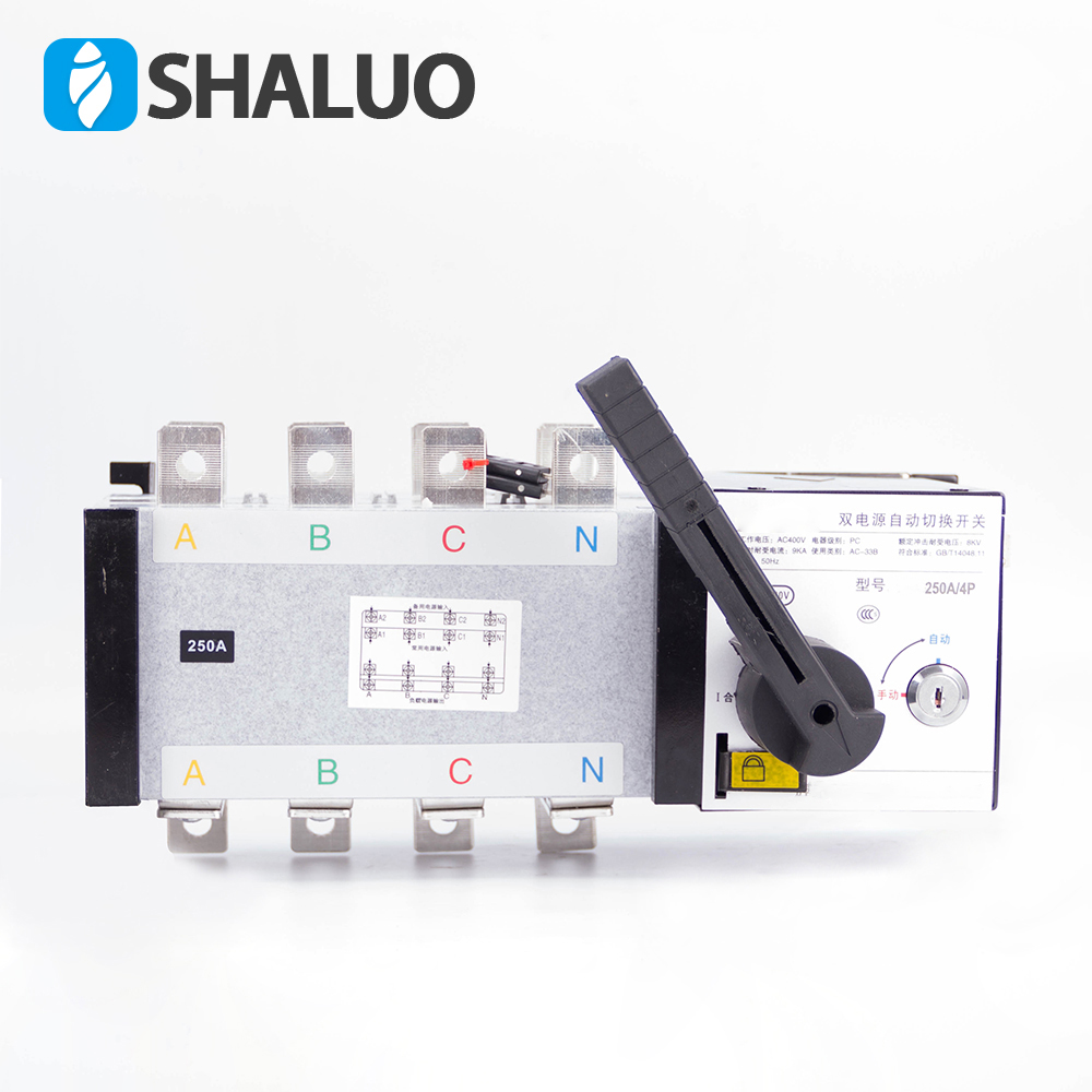 4P 250A 400V Dual Power Transfer Switch Universal switch ATS 220V ac diesel generator set part
