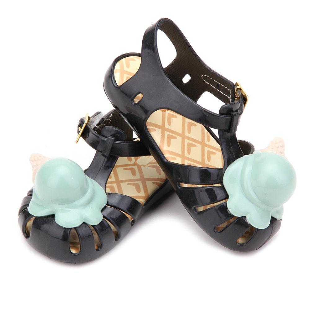 Girl sandals New Style Summer Boys and PVC soft leather Ice cream Girls sandal Flat Heels BABY shoes
