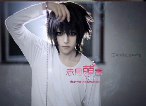 Death Note L Black Short Stylish Anime Cosplay costume ...