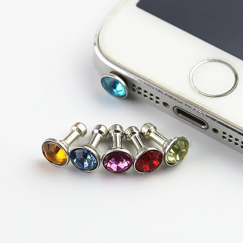 5 Stück Universal 3,5mm Diamant Staub Stecker Handy Zubehör Gadgets Kopfhörer Enchufe Del Polvo Stecker Für Iphone 5 5 S 6 6 S Heimwerker Hardware